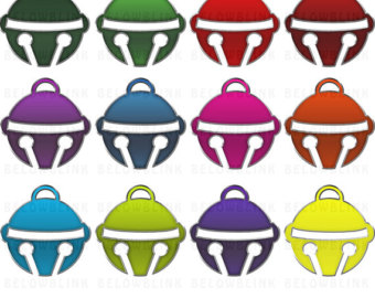 Bell clipart cute. Colorful fish clip art