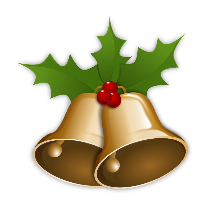 Cute jingle bells . Holiday clipart holiday meal