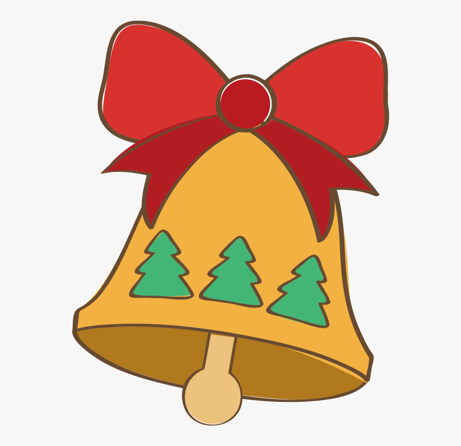 Bell clipart easy. Christmas transprent png free