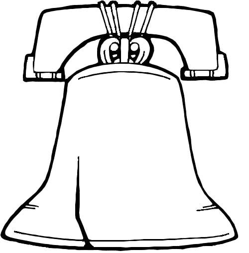 Bell clipart easy. Exclusive idea liberty pictures