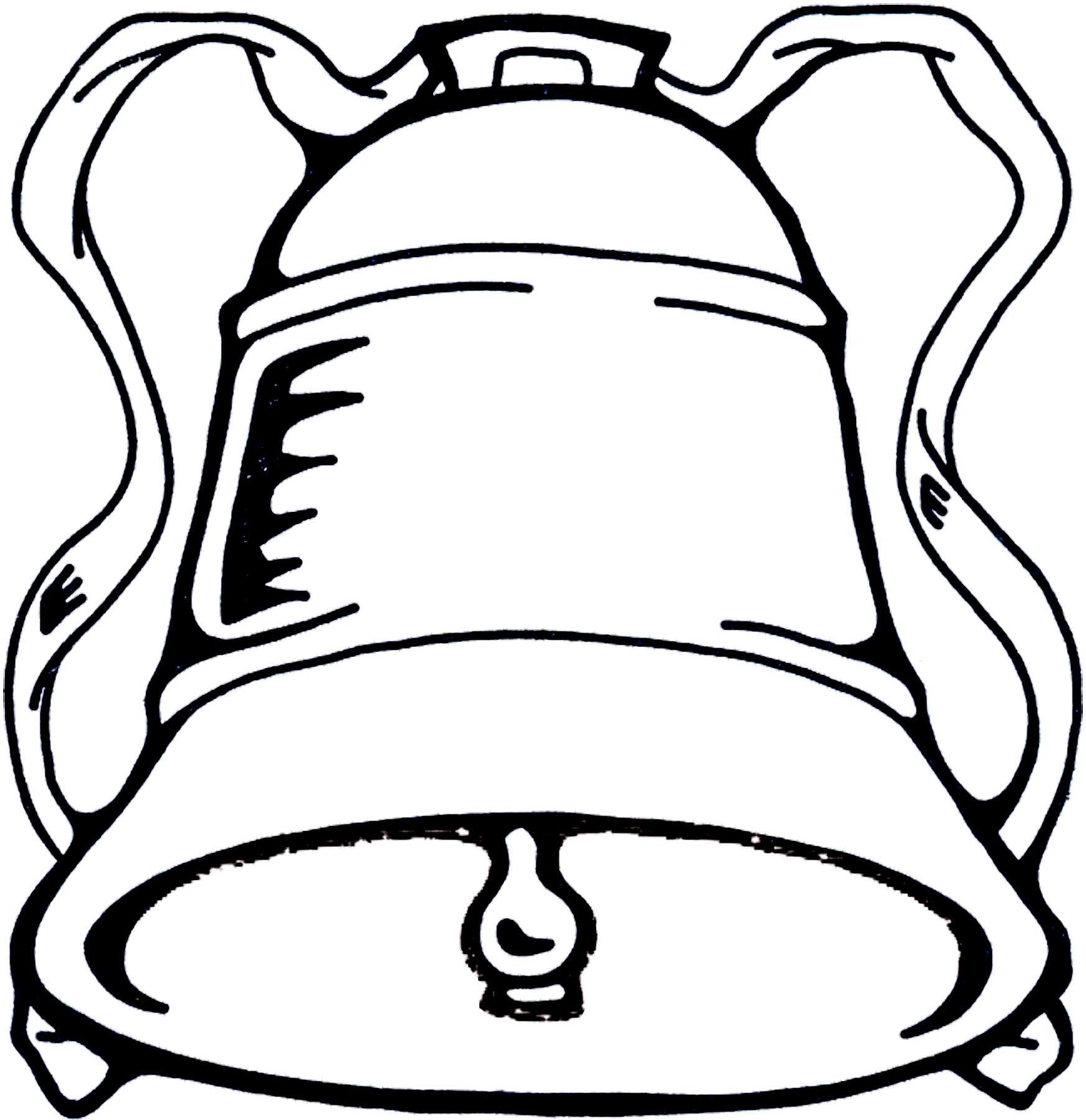 Christmas bell image the. Bells clipart black and white
