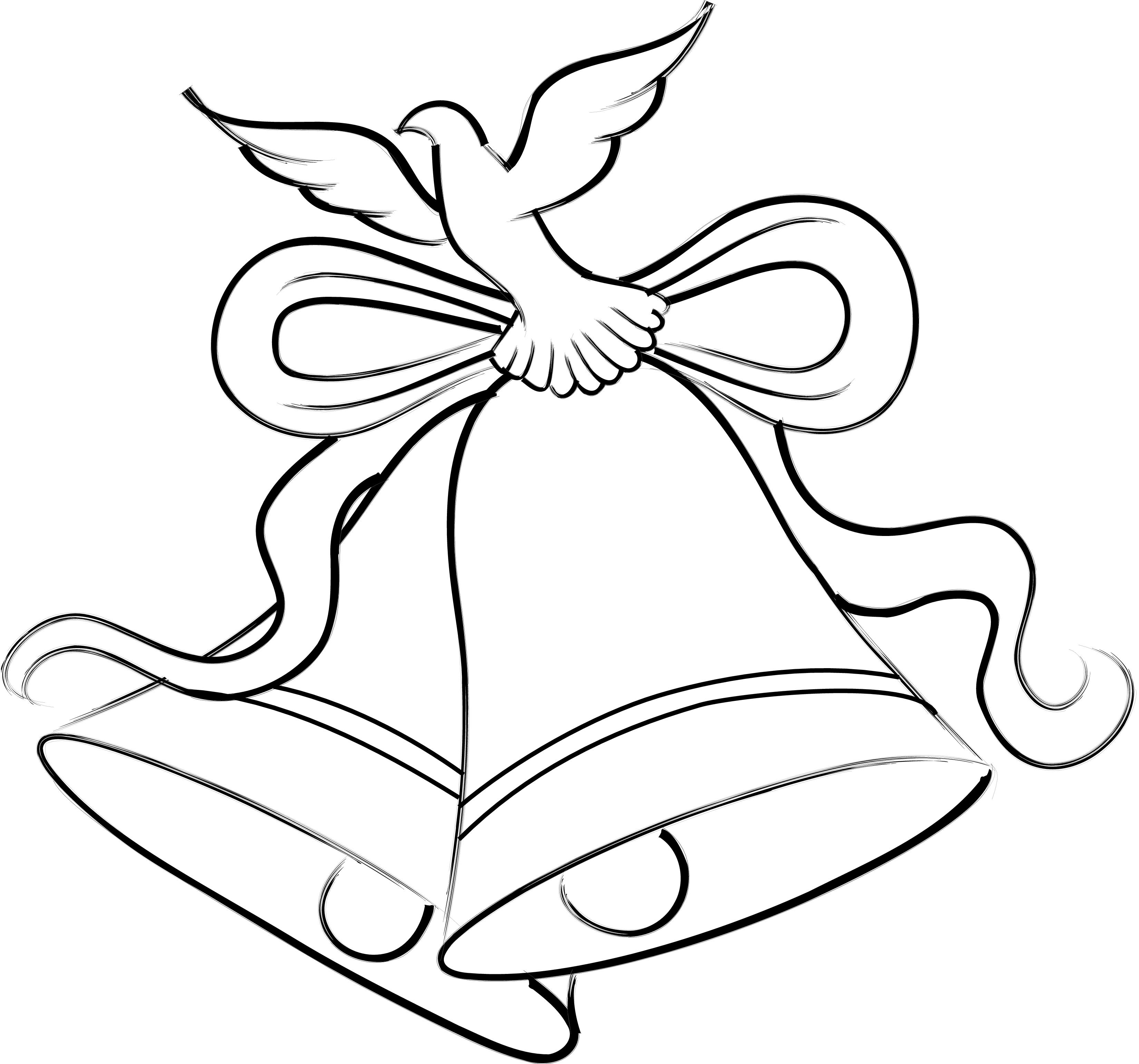 Free wedding download clip. Bells clipart sketches