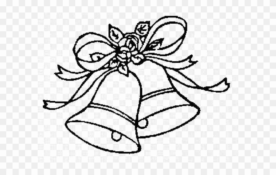 Bells clipart line. Wedding clip art black