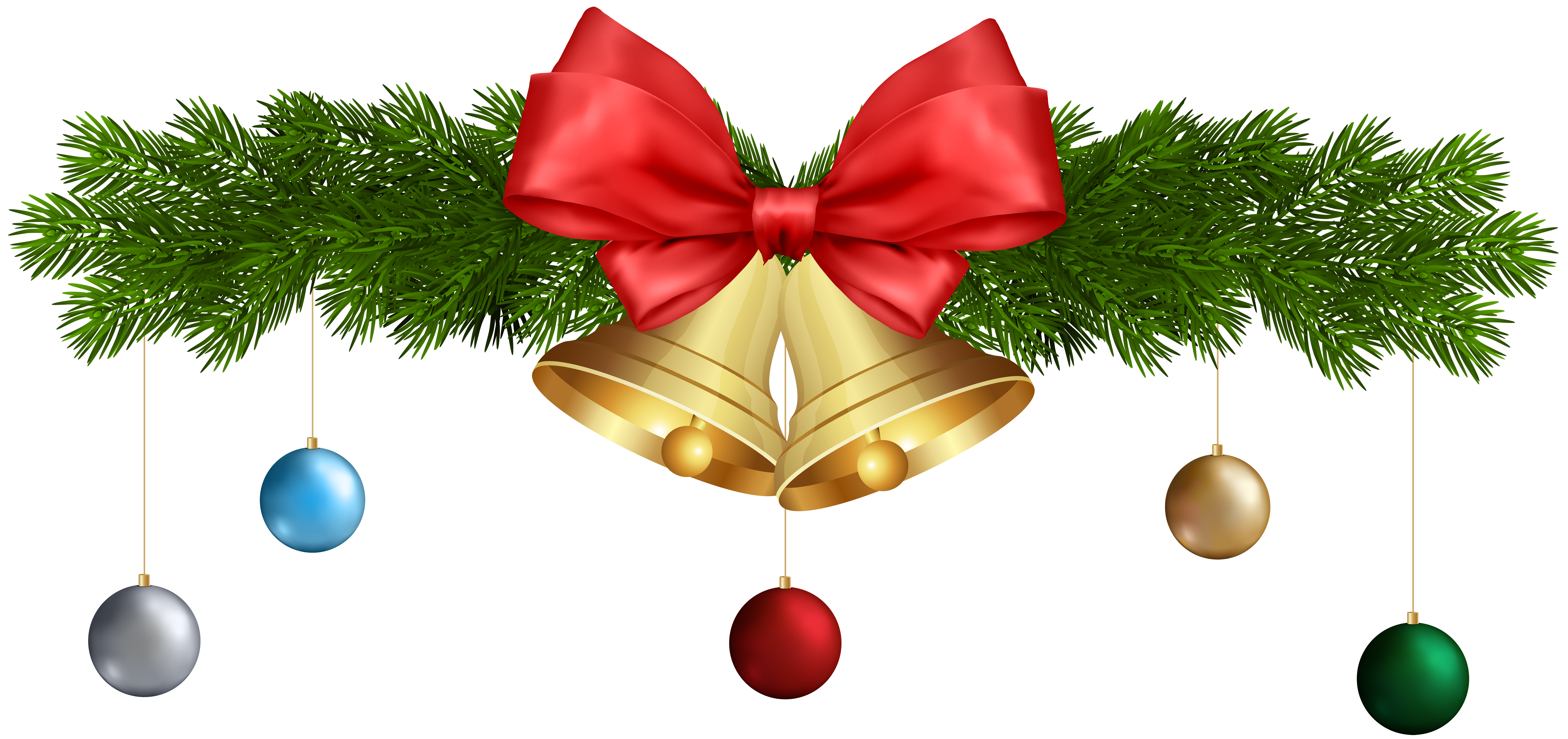 Ornament clipart bell. Christmas bells and ornaments