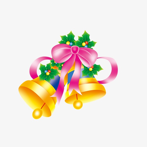 Christmas decoration bells decorative. Bell clipart party