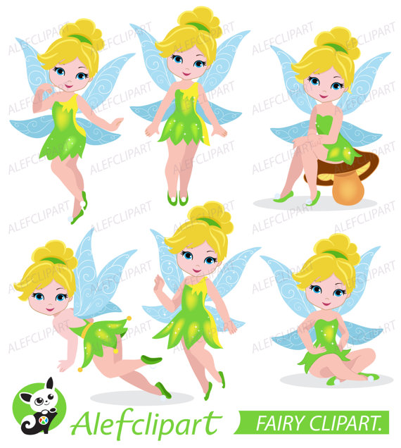 Bell clipart party. Fairy tinkerbell digital from