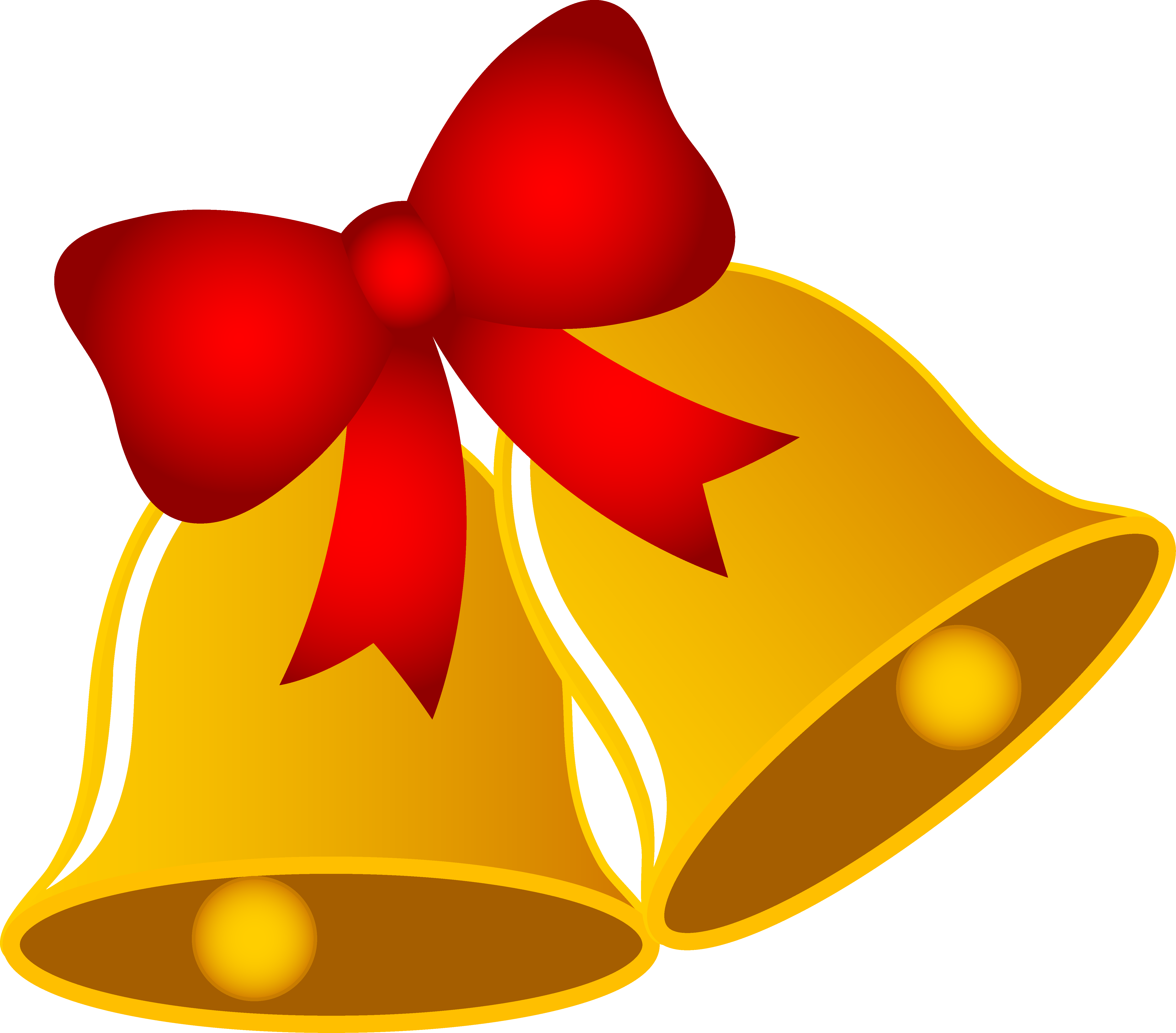 Christmas with ribbon free. Bells clipart design