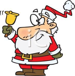 Santa ringing a royalty. Bell clipart ring bell