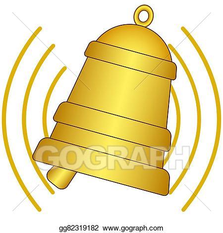 Bell clipart ringing bell. Eps vector stock illustration