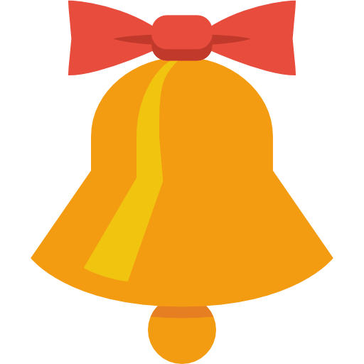 Bell clipart simple. Christmas icon png image