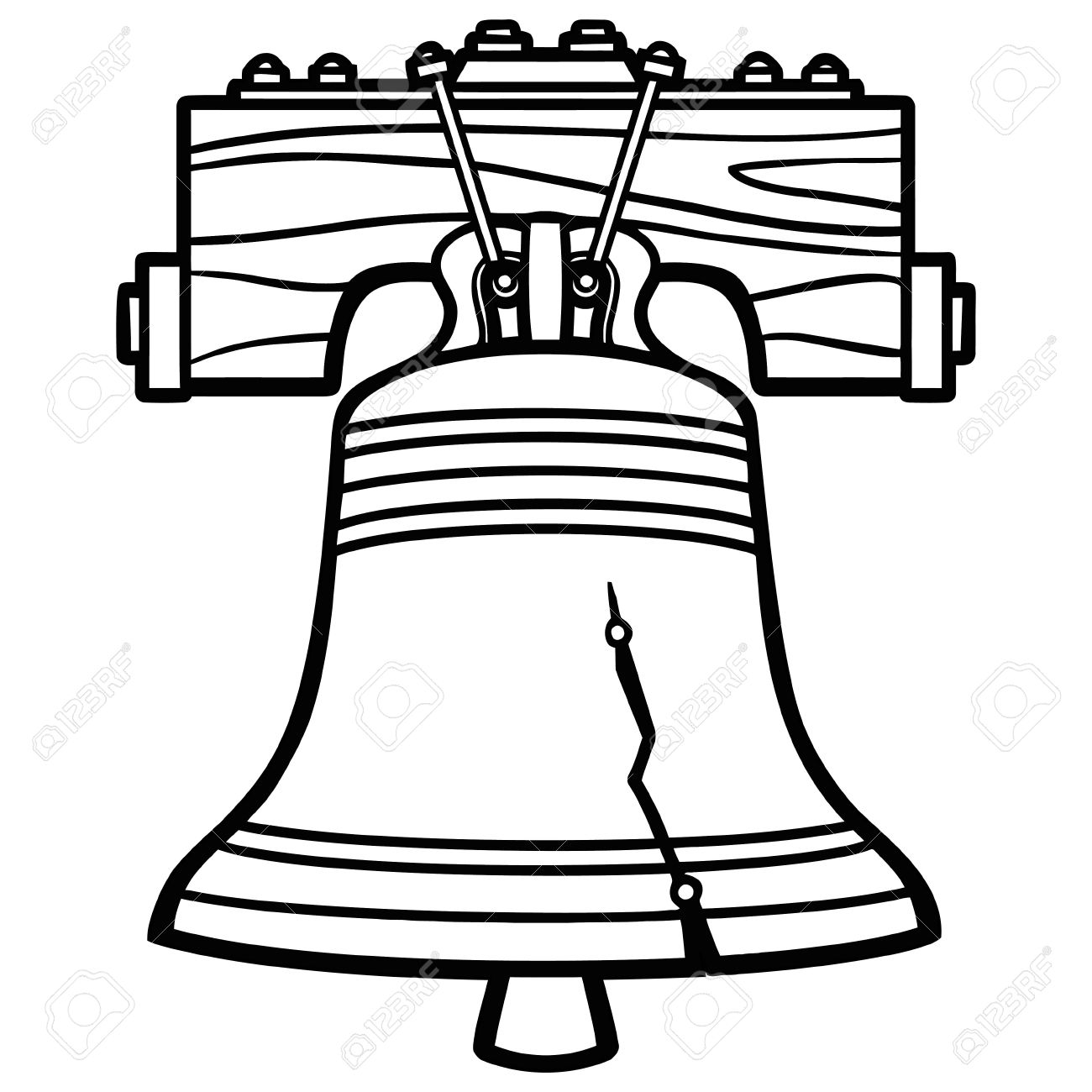 Black and white free. Bell clipart simple