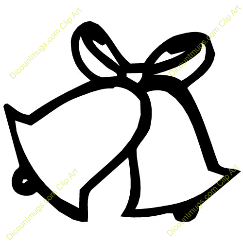 My dream wedding clip. Bell clipart simple