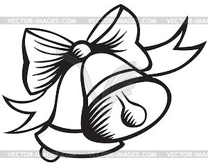 Christmas clip art black. Bell clipart sketches