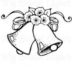 Clip art black and. Bell clipart sketches