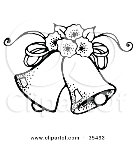 Wedding flowers drawing at. Bell clipart sketches