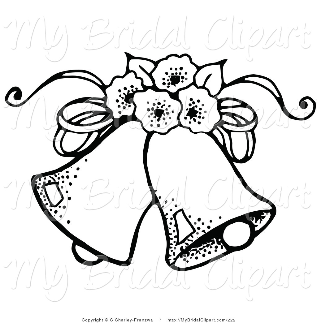 Bell clipart sketches. Wedding line drawing at