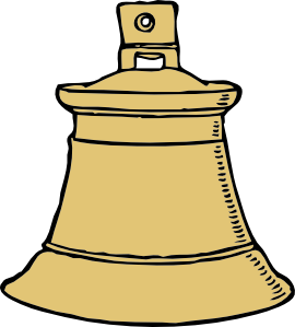 Bell clipart temple bell. Gold clip art at