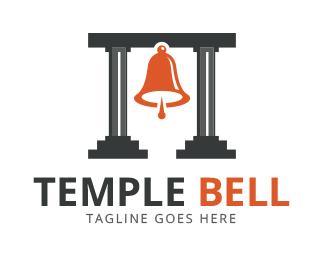 Logopond logo brand identity. Bell clipart temple bell