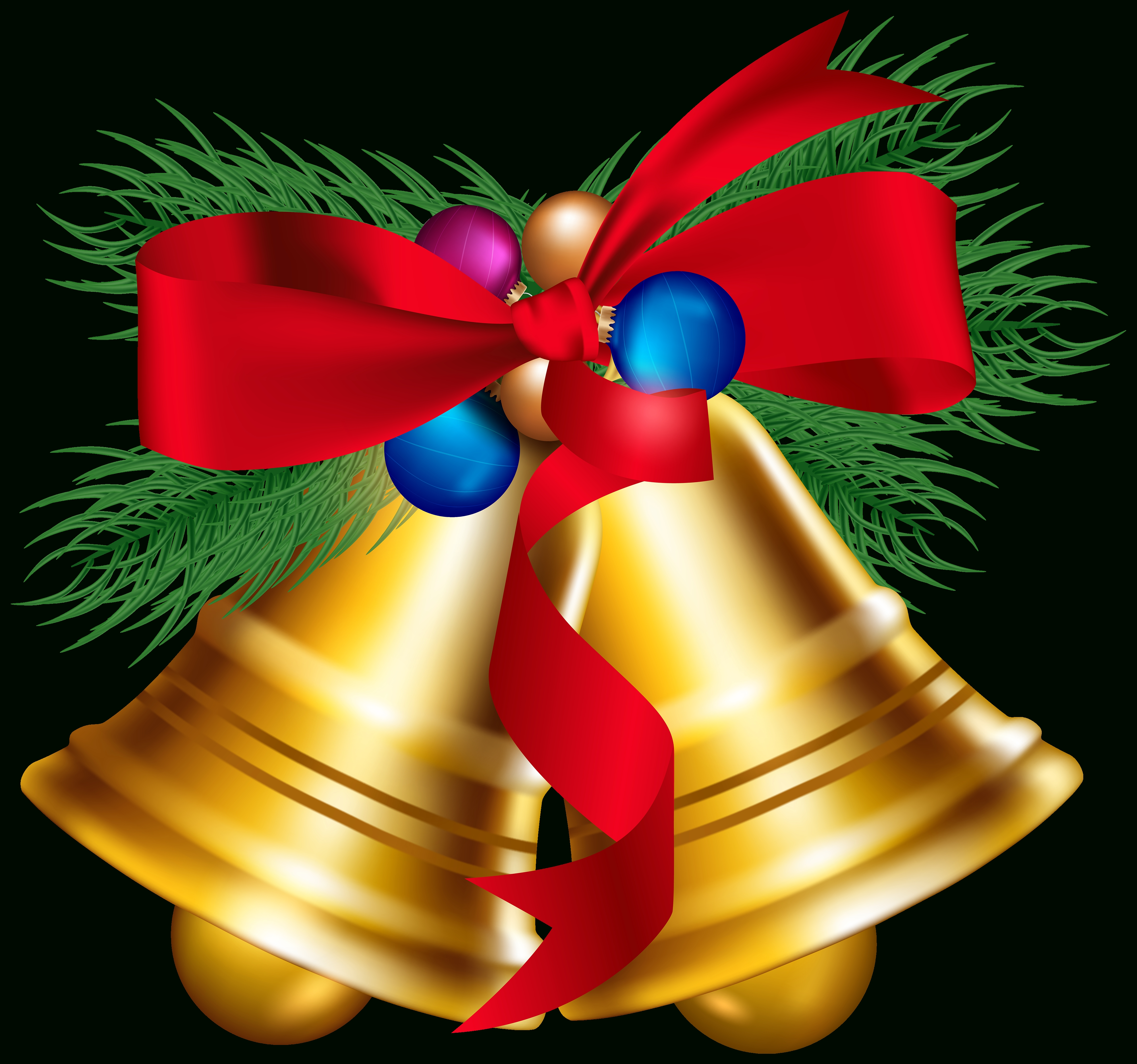 Bell clipart traditional. Christmas bells image art