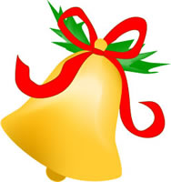 Bell clipart traditional. Holiday clip art christmas