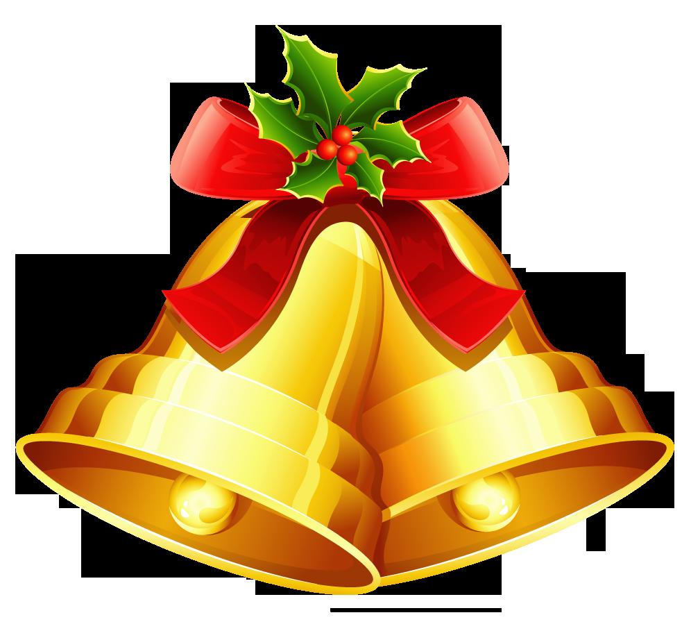 Clipart wedding ornament. Christmas golden bells png