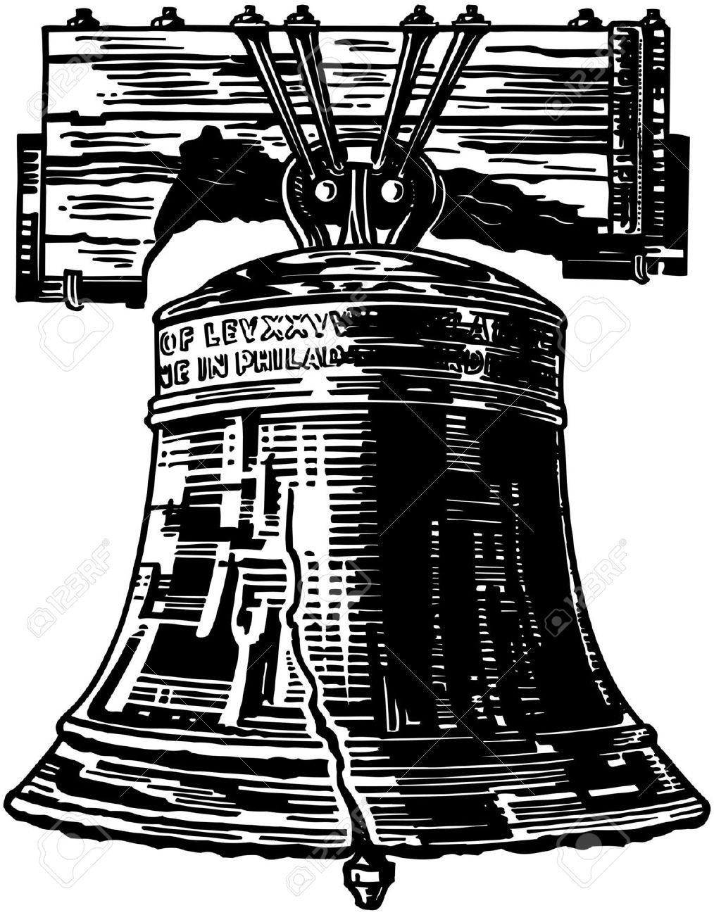 Bells clipart vector. Bell liberty philadelphia collection
