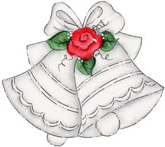 Black and white wedding. Bride clipart christmas