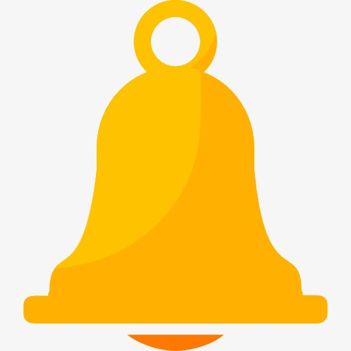 Bell clipart yellow bell. A cartoon png image
