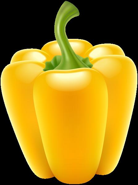 Pepper transparent png clip. Bell clipart yellow bell