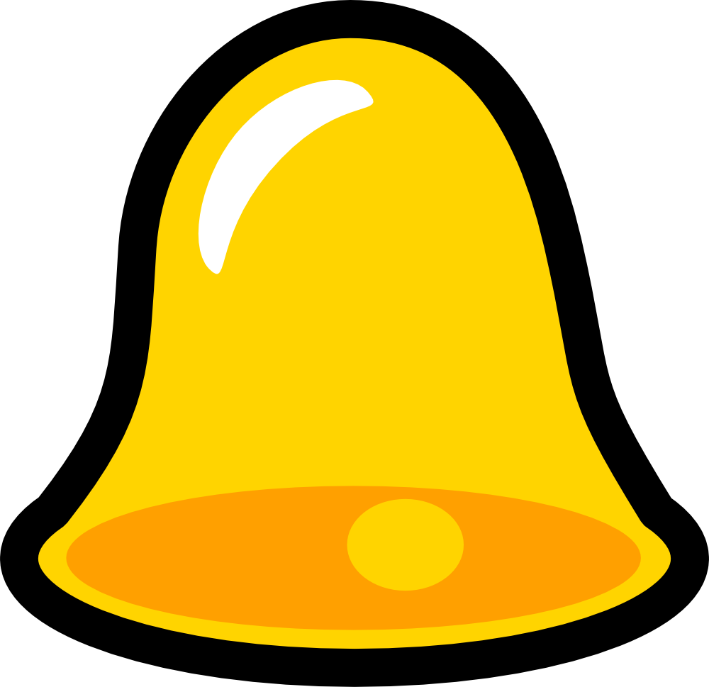 Onlinelabels clip art icon. Bell clipart yellow bell