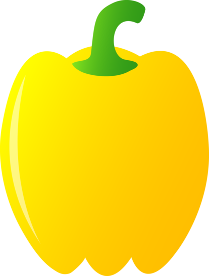 Bell pepper free clip. Vegetables clipart yellow vegetable