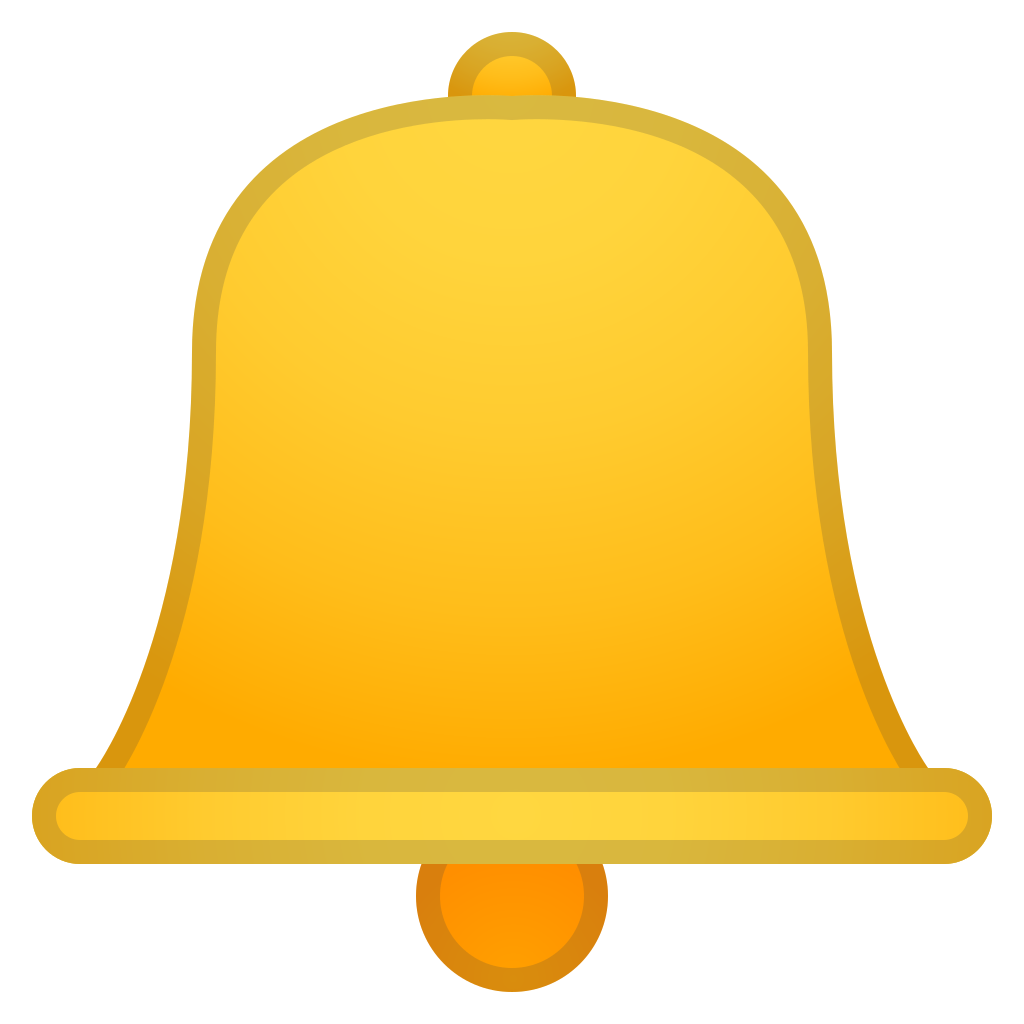 Bell icon png. Noto emoji objects iconset