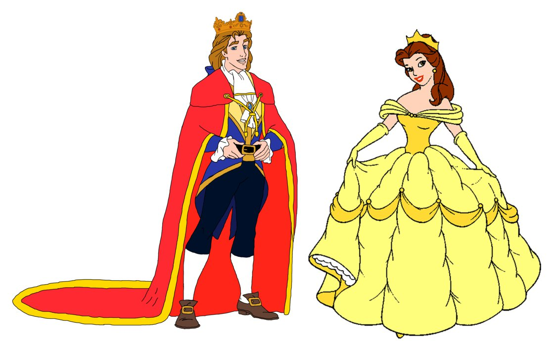 Belle clipart adam. Prince and princess by