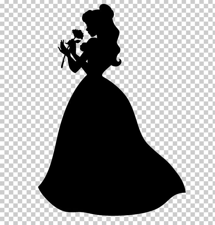 Silhouette photography dress beast. Belle clipart black and white