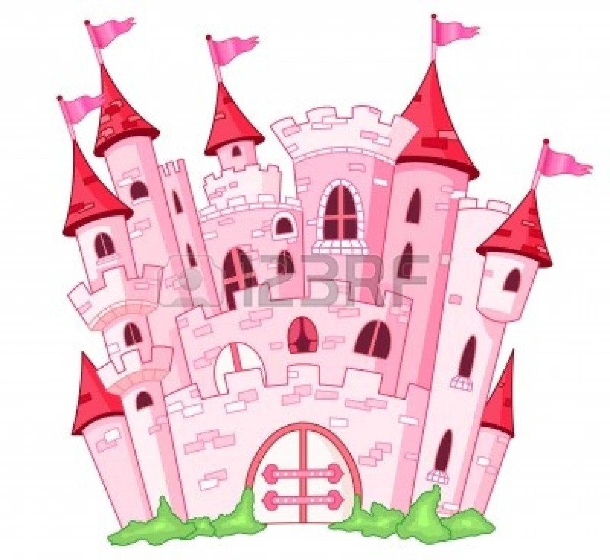 Clipart castle pink. Belle pencil and in