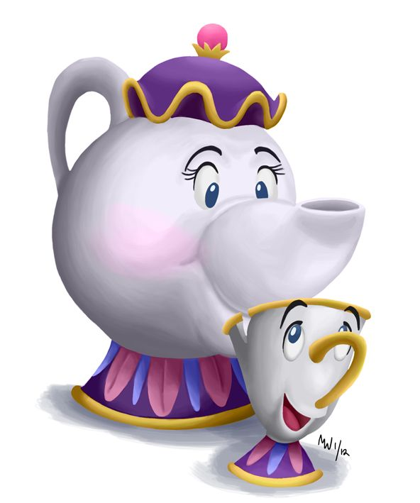 Belle clipart chip. All hearts mrs potts