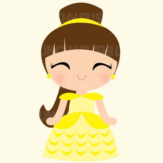 Belle clipart cute. Princess disney