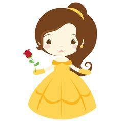 Disney princess google search. Belle clipart cute