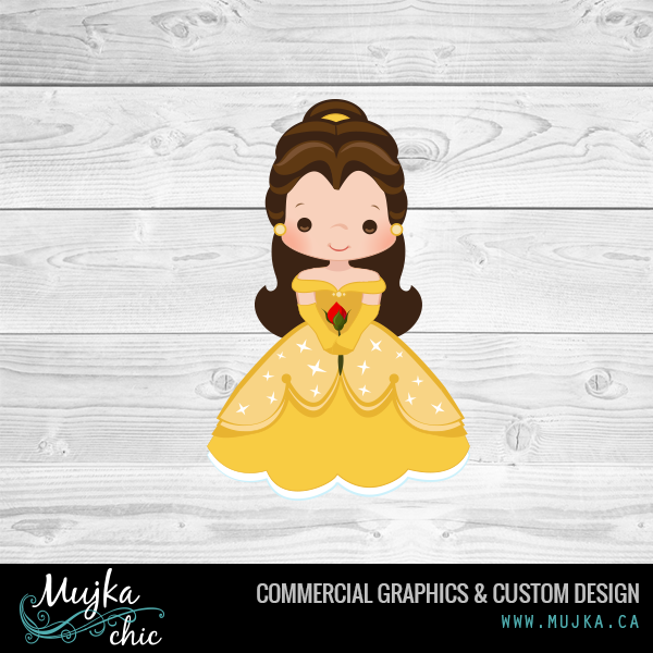 Princess beauty and the. Belle clipart cute