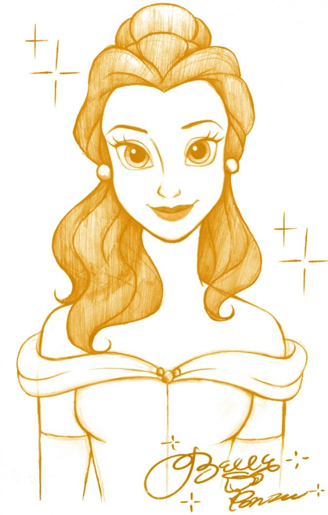 belle clipart drawing