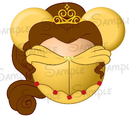 Belle clipart ear mickey. Beauty and the beast