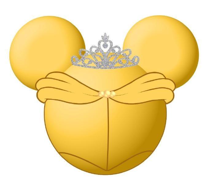 Belle clipart ear mickey. S minnie disney cruise