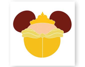 Belle clipart ear mickey. Disney beauty princess icon