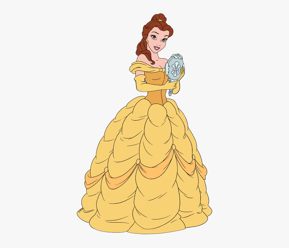 Beauty and the beast. Belle clipart mirror