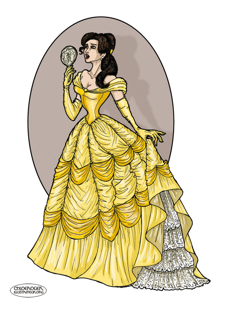 And the by lataupinette. Belle clipart mirror