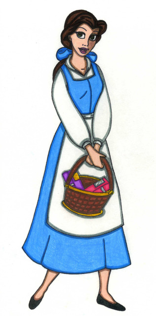 N colored pencil by. Belle clipart peasant