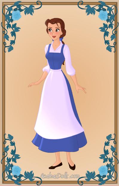 Belle clipart peasant. Maiden by colour art
