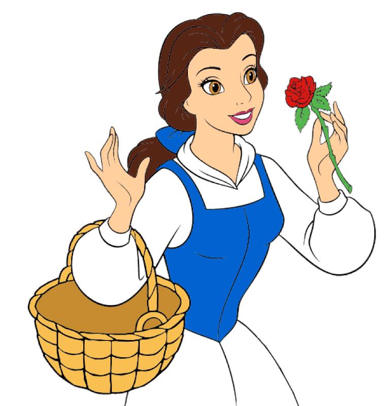 Princess by wilda on. Belle clipart princes disney
