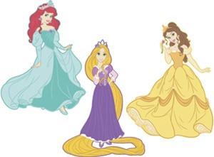 Belle clipart rapunzel. Disney princess d wall
