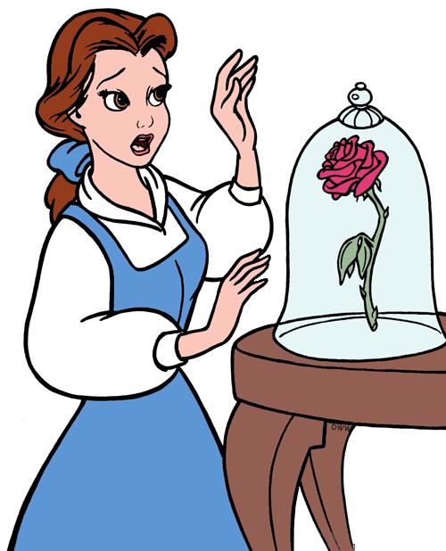 Clip art disney galore. Belle clipart rose